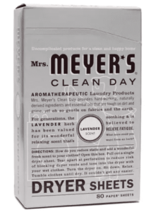 mrs meyers dryer sheets