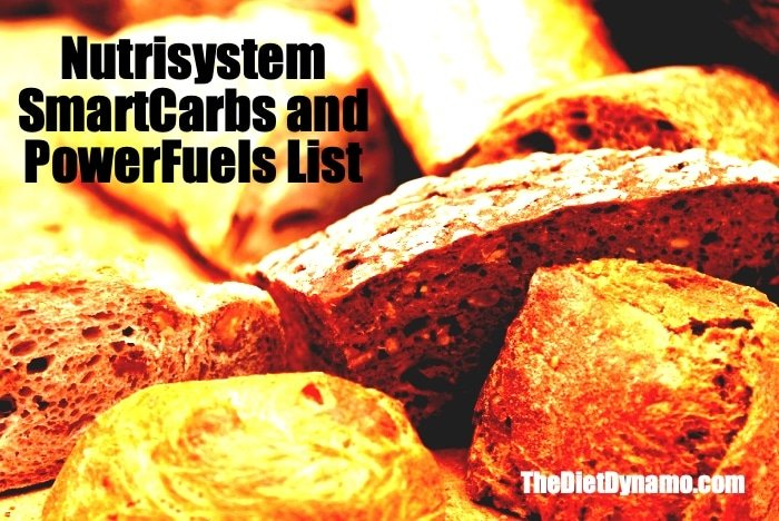 nutrisystem smart carbs and powerfuels list