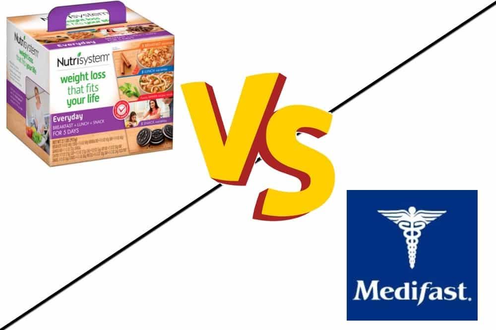 nutrisystem vs medifast