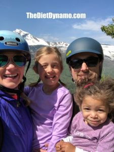 our family riding over glacier national park