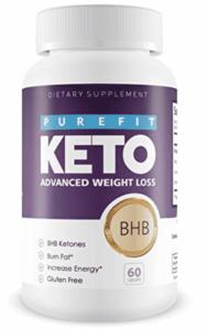 a bottle of purefit keto my favorite ketogenic supplement