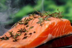 a salmon filet makes a great healthy choice at dinner
