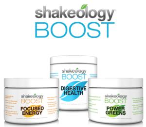 the three shakeology boosts