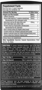 supplement facts label