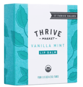 thrive markety vanilla mint lip balm