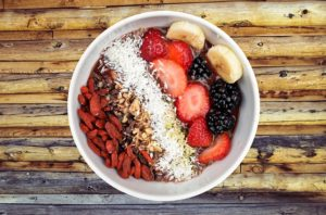 a bowl full of healthy fiber options