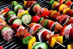 some shish kebabs