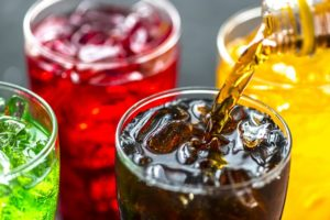 glasses of soda pop, which have been known to cause flatulence