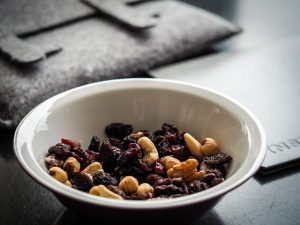 a bowl of trail mix