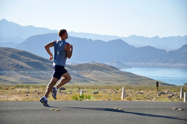 a guy goes for a fasted run outside