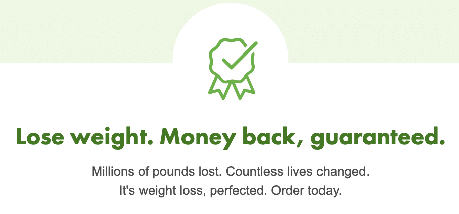 their money-back guarantee